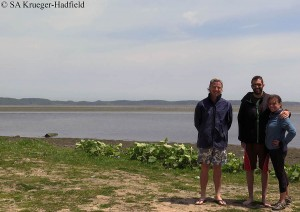 Erik Sotka, Rob Hadfield (my partner in crime and in the field in Japan!) and me at one field site in Akkeshi, Hokkaido, Japan