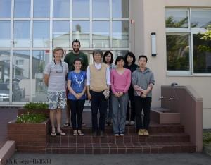 Muroran Marine Station Back row: Rob, Chikako Nagasato, Atsuko Tanaka Front Row: Erik, me, Taizo Motomura, Nana Kinoshita, Yuki Katayama