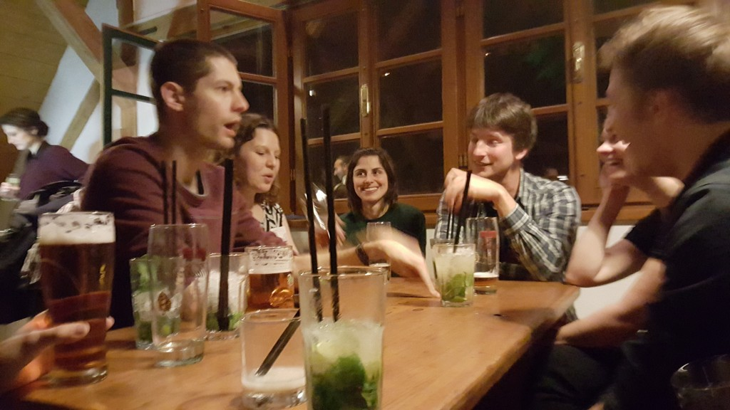 Workshop socializing at the pub
